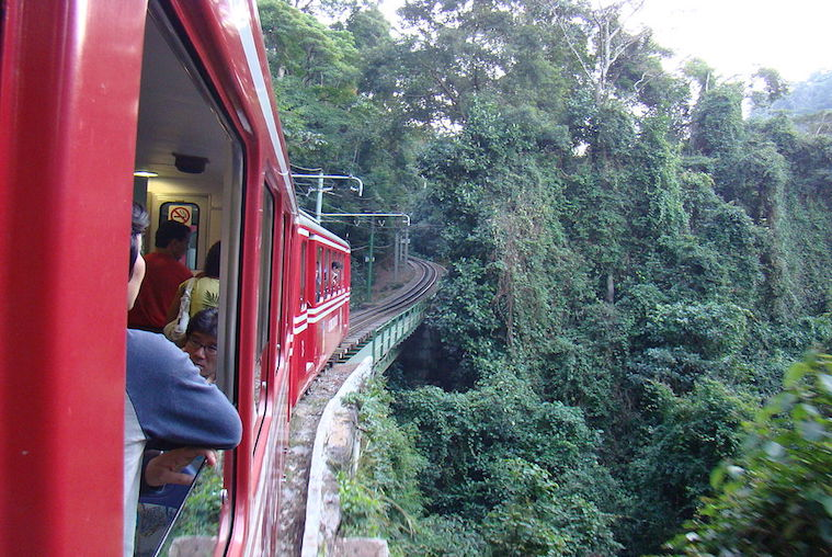 The Train up to Corcovado