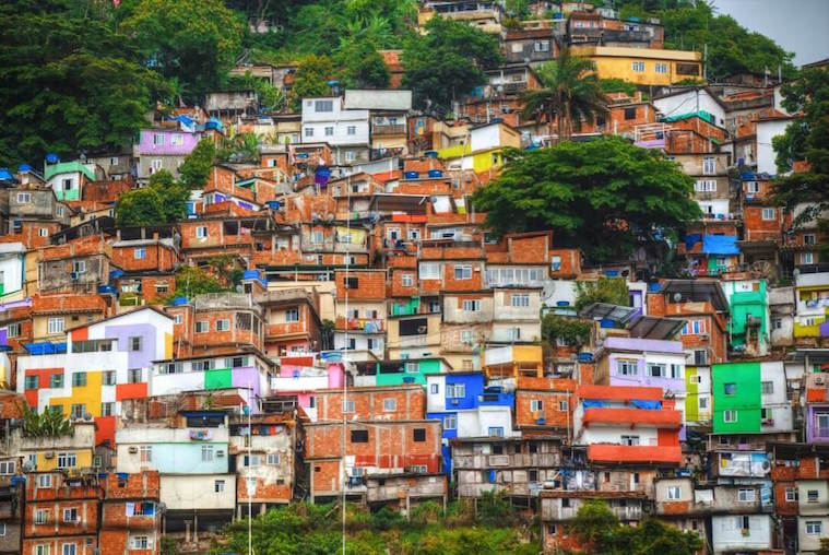 Check out the Beautiful Colors of the Largest Favela in South America off in the Distance