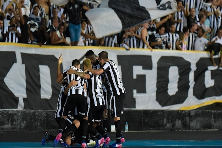 Botafogo Football Team Celebrating a GOOOOOLLLLLL!