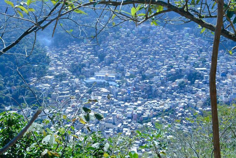 View from Dois Irmãos onto Rocinha