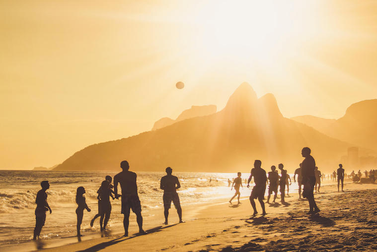Locals on Ipanema Beach