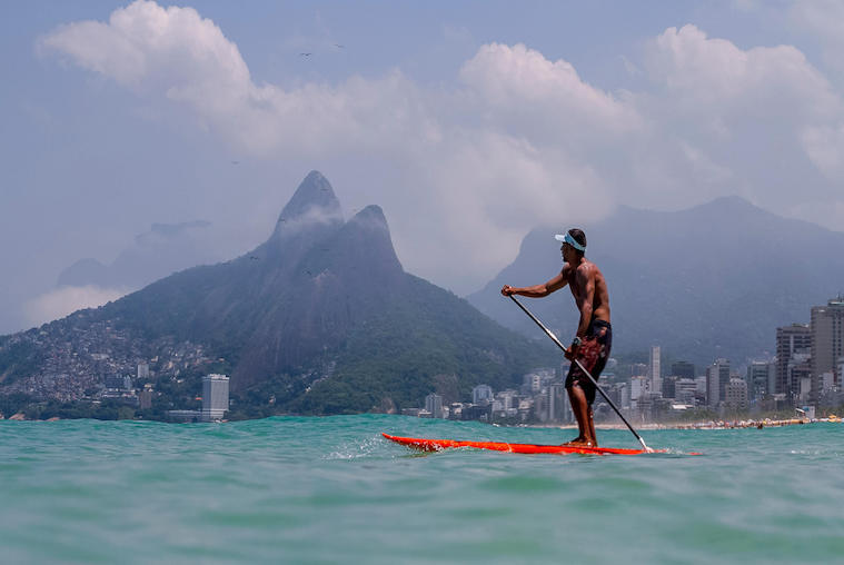 Stand-Up Paddle Board on Ipanema Beach