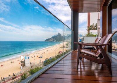 the Fasano Hotel on Ipanema Beach